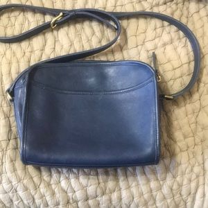 Vintage coach navy blue purse